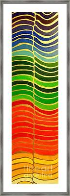 Stability Vertical Banner Framed Print by Karen Jane Jones