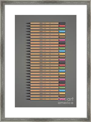 Stabilo Point 88 Fineliner Poster Framed Print by Monkey Crisis On Mars