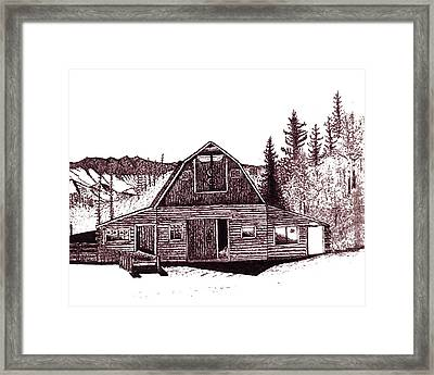 Stable Framed Print by Mark Mahorney