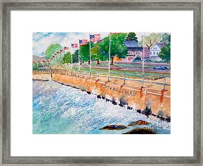 Stacey Boulevard,gloucester, Ma Framed Print by Kathryn G Roberts