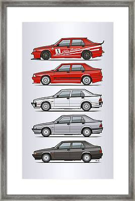 Stack Of Alfa Romeo 75 Tipo 161, 162b Milanos  Framed Print