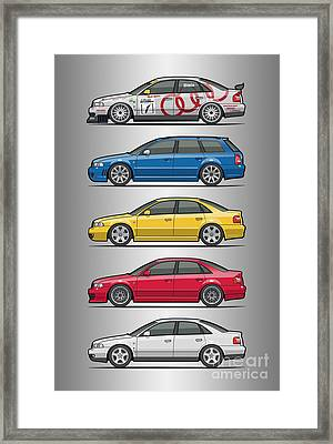 Stack Of Audi A4 B5 Type 8d Framed Print
