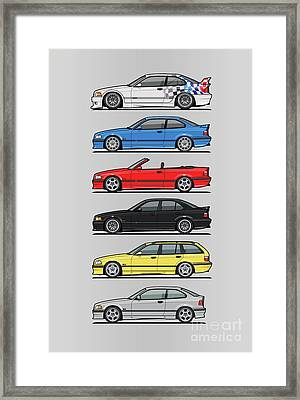 Stack Of E36 Variants Framed Print