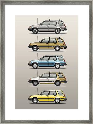 Stack Of Mark's Toyota Tercel Al25 Wagons Framed Print by Monkey Crisis On Mars