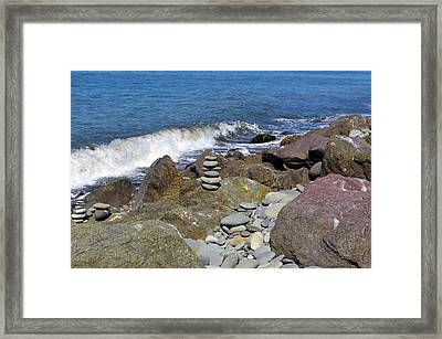 Framed Print featuring the photograph Stacked Against The Waves by Tikvah's Hope