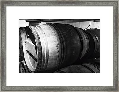 Stacked Barrels Framed Print by Georgia Fowler