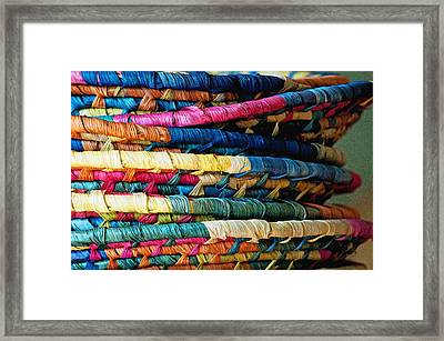 Framed Print featuring the photograph Stacked Baskets by Gwyn Newcombe