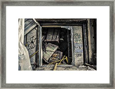Stacked Framed Print by CJ Schmit