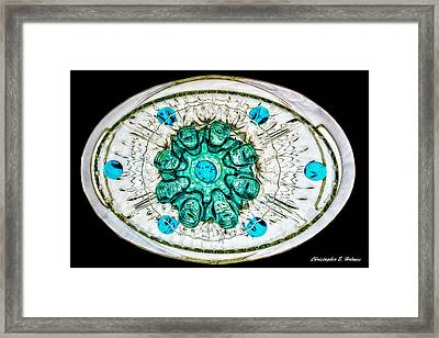 Stacked Glass Framed Print by Christopher Holmes