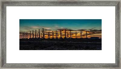 Rough Times In The Basin Framed Print