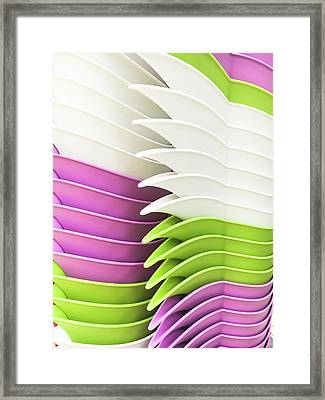 Stacked Jugs Framed Print by Tom Gowanlock