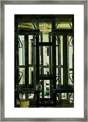 Stacked Metal Pallets 2 Framed Print