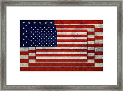 Stacked Painted Flags Framed Print by Gary Grayson