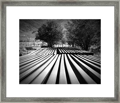 Stacked Rails Laws Ca Framed Print