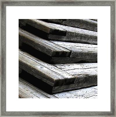 Stacked Stairs Square Framed Print by Kae Cheatham