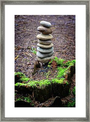Framed Print featuring the photograph Stacked Stones And Fairy Tales II by Marco Oliveira