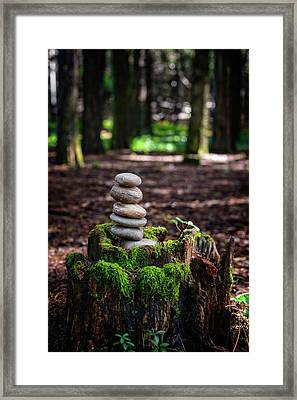 Framed Print featuring the photograph Stacked Stones And Fairy Tales IIi by Marco Oliveira