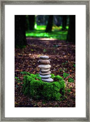 Framed Print featuring the photograph Stacked Stones And Fairy Tales Iv by Marco Oliveira
