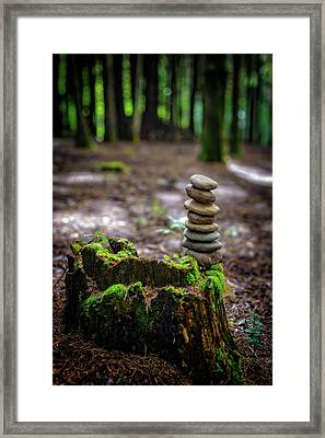 Framed Print featuring the photograph Stacked Stones And Fairy Tales by Marco Oliveira