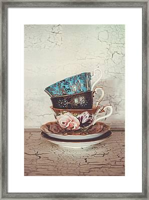 Stacked Teacups IIi Framed Print