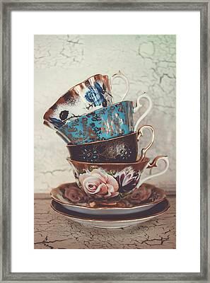 Stacked Teacups Iv Framed Print