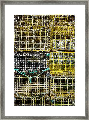 Stacked Traps Framed Print by Colleen Kammerer
