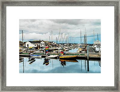 Stacked Up At Point Hudson Framed Print