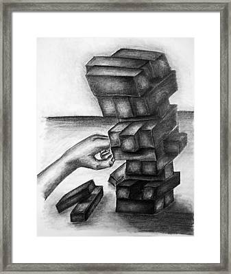 Stacked Up Framed Print by Tracy Glantz