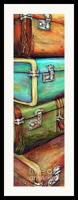 Luggage Paintings Framed Prints