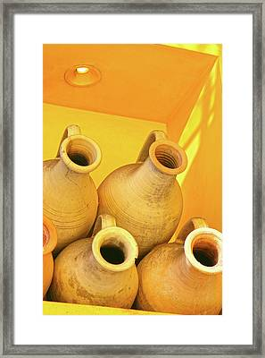 Stacked Yellow Jars Framed Print