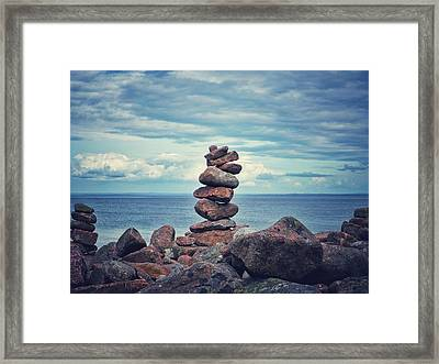 Stacked Zen Framed Print