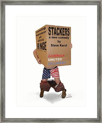 Stackers Poster Framed Print