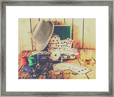 Stacking The Deck Framed Print