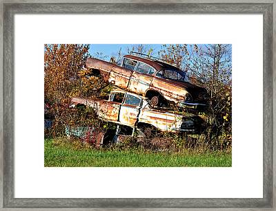 Stacking Them Up Framed Print by Jan Amiss Photography