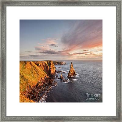 Stacks Of Duncansby Sunrise Framed Print by Colin and Linda McKie