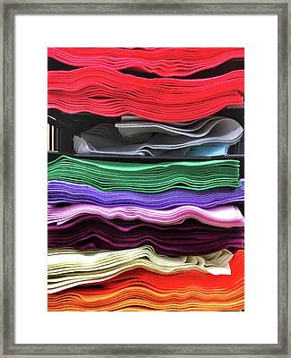 Stacks Of Felt Framed Print