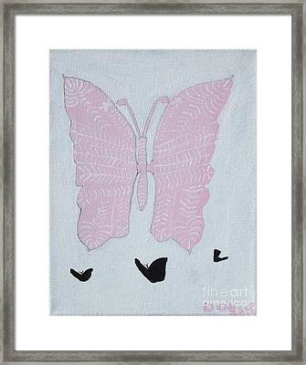 Stacys Wings Framed Print