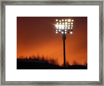 Stadium Lights Framed Print