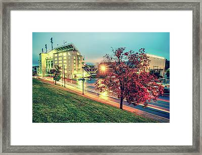 Stadium Of The Arkansas Razorbacks Football - Donald W. Reynolds Stadium - Fayetteville Arkansas Framed Print by Gregory Ballos