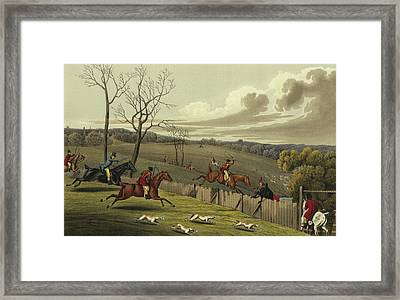 Stag Hunting Framed Print by Henry Thomas Alken