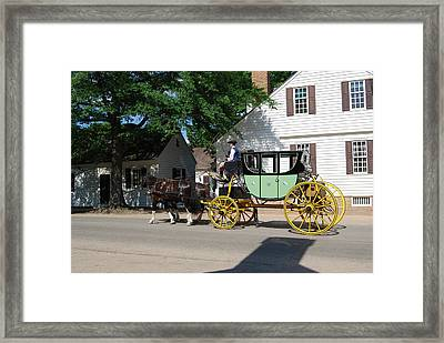 Stage Coach Framed Print by Eric Liller
