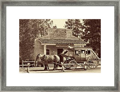 Stage Coach Stop - Jackson Hole Wy Framed Print by Christine Till