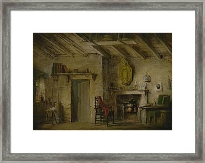 Stage Design For Heart Of Midlothian Framed Print by Alexander Nasmyth