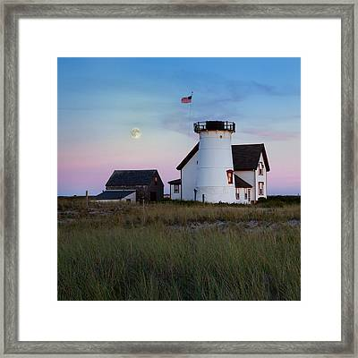 Stage Harbor Light Cape Cod Framed Print by Bill Wakeley