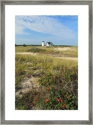 Stage Harbor Lighthouse Cape Cod Framed Print by John Burk