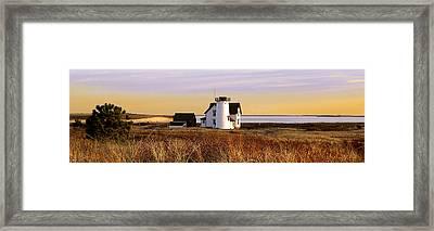 Stage Harbor Lighthouse Chatham Framed Print by Charles Harden