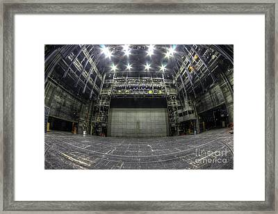 Stage In The Abandoned Theater Framed Print