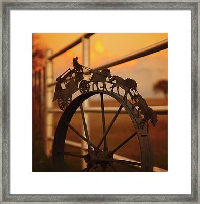 Stagecoach Sunset Framed Print