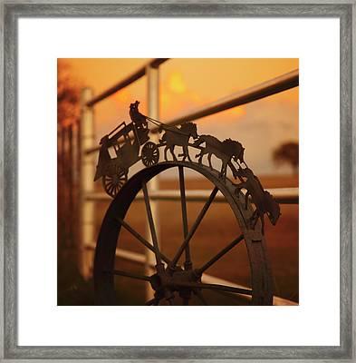 Stagecoach Sunset Framed Print