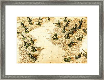Staged World War Framed Print
